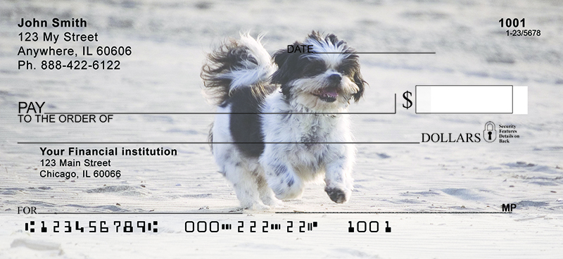 Happy Shih Tzu Personal Checks