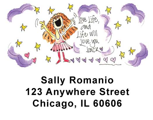 Girlie Girls Address Labels by Amy S. Petrik