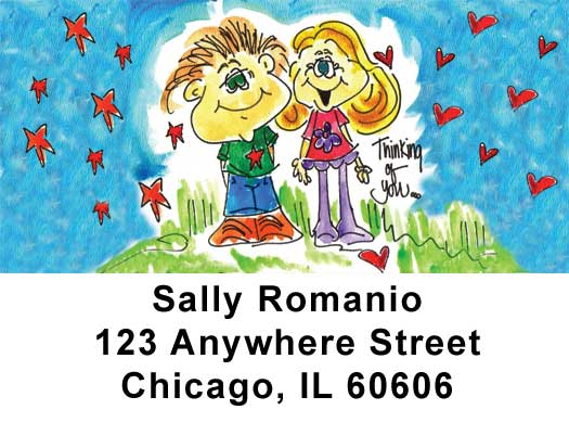 Love Address Labels by Amy S. Petrik