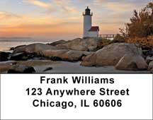 Lighthouses Scenic Views Address Labels
