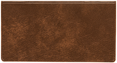 Brown Marble Vinyl Checkbook Cover