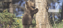 Grizzly Bear Cubs Personal Checks