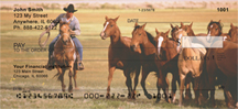 Horse on the Prarie Roundup Personal Checks