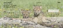Mischievous Wolves Personal Checks