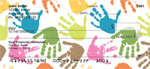 Kids Hand Prints Personal Checks