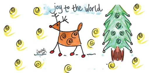 Joy to the World Address Labels by Amy S. Petrik