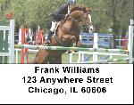 Equestrian Jumping Address Labels