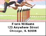 Track Baton Hurdles Address Labels