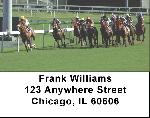 At the Track Horse Racing Address Labels