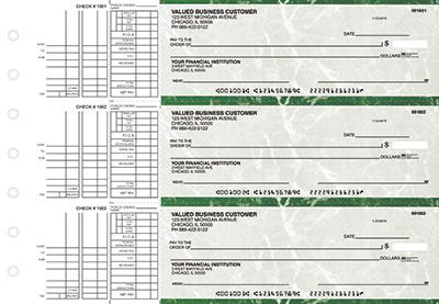 Green Marble Multi Purpose Business Checks