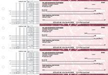 Burgundy Marble Multi Purpose Business Checks