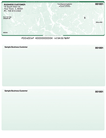 Green Marble Laser Business One Per Page Voucher Checks - Top Style $ 11.99