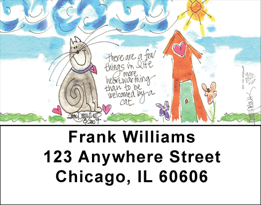 Home Sweet Home Address Labels by Amy S. Petrik