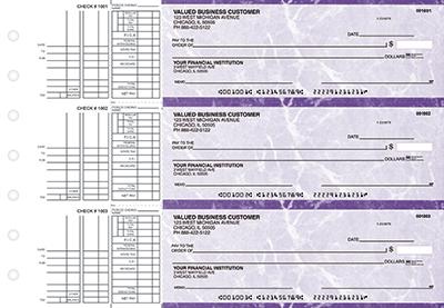 Purple Marble Multi Purpose Business Checks