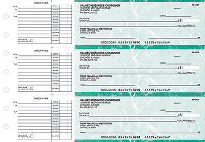 Teal Marble Accounts Payable Checks
