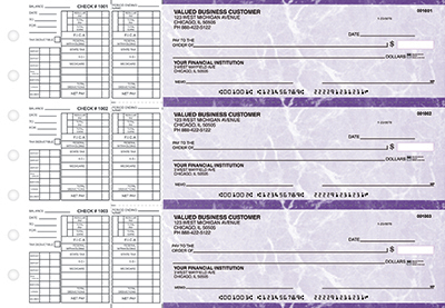 Purple Marble Payroll Business Checks