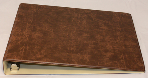 Brown Deskset Checkbook Cover
