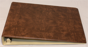 Brown Deskset Checkbook Cover