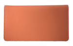 Orange Leather Checkbook Cover $ 11.99
