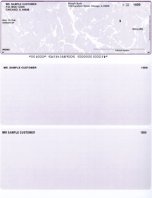 Plum Marble Laser Business One Per Page Voucher Checks - Top Style $ 11.99