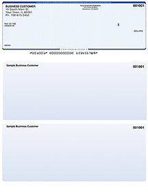 Blue Safety Laser Business One Per Page Voucher Checks - Top Style $ 11.99
