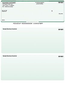 Green Safety Laser Business One Per Page Voucher Checks - Top Style $ 11.99