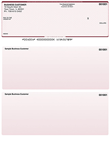 Red Safety Laser Business One Per Page Voucher Checks - Top Style $ 11.99