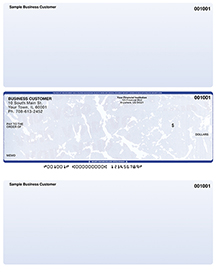 Blue Marble Laser Business One Per Page Voucher Checks - Middle Style $ 11.99