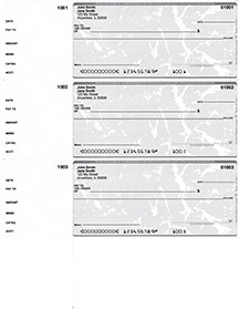 Grey Marble 3 Per Page Wallet Checks $ 22.99