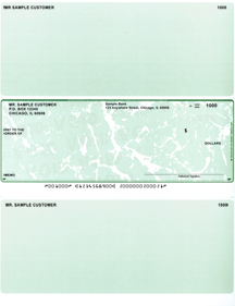 Green Marble Laser Business One Per Page Voucher Checks - Middle Style $ 11.99