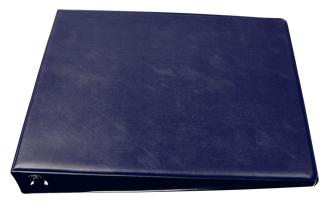 Blue Deskset Checkbook Cover