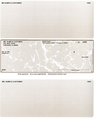 Tan Marble Laser Business One Per Page Voucher Checks - Middle Style