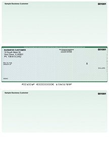 Blue Green Prizmatic Laser One Per Page Voucher Checks - Middle Style $ 11.99