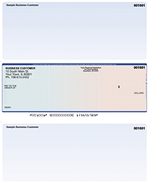 Blue Red Laser Business One Per Page Voucher Checks - Middle Style $ 11.99