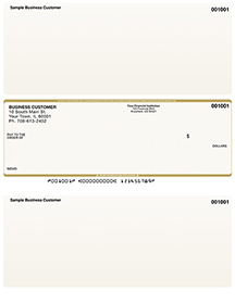 Tan Safety Laser Business One Per Page Voucher Checks - Middle Style $ 11.99