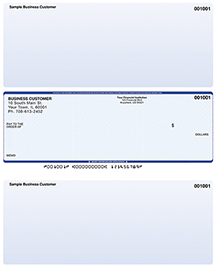 Blue Safety Laser Business One Per Page Voucher Checks - Middle Style $ 11.99