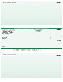 Green Safety Laser Business One Per Page Voucher Checks - Middle Style $ 11.99