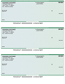 Blue Green Business Laser / Inkjet Checks - 3 To A Page $ 19.99