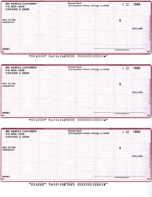 Burgundy Safety Business Laser / Inkjet Checks - 3 To A Page $ 19.99