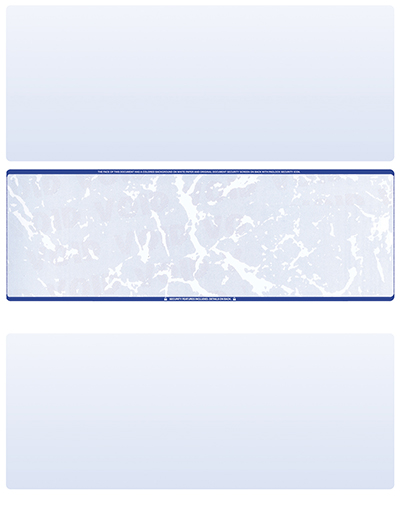 Blue Marble Blank Stock for Computer Voucher Checks - Middle Style