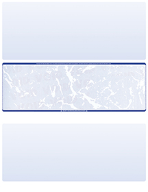 Blue Marble Blank Stock for Computer Voucher Checks Middle Style $ 11.99
