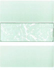 Green Marble Blank Stock for Computer Voucher Checks Middle Style $ 11.99