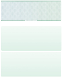 Blue Green Prizmatic Blank Stock for Computer Voucher Checks Top Style