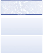 Blue Marble Blank Stock for Computer Voucher Checks Top Style
