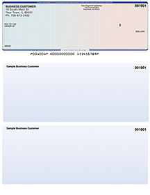 Blue Red Laser Business One Per Page Voucher Checks - Top Style $ 11.99