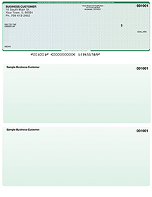 Blue Green Laser Business One Per Page Voucher Checks - Top Style $ 11.99