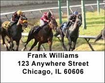 Horse Racing Address Labels