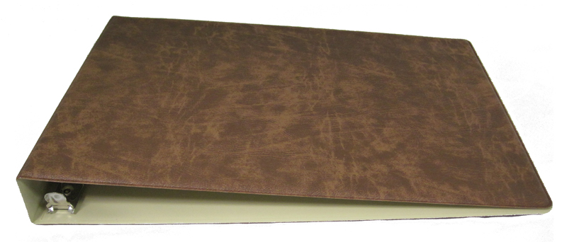 Brown Business 7 Ring Check Binder