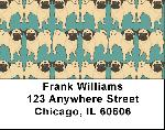 Pug Wallpaper Address Labels