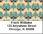 Pug Wallpaper Address Labels